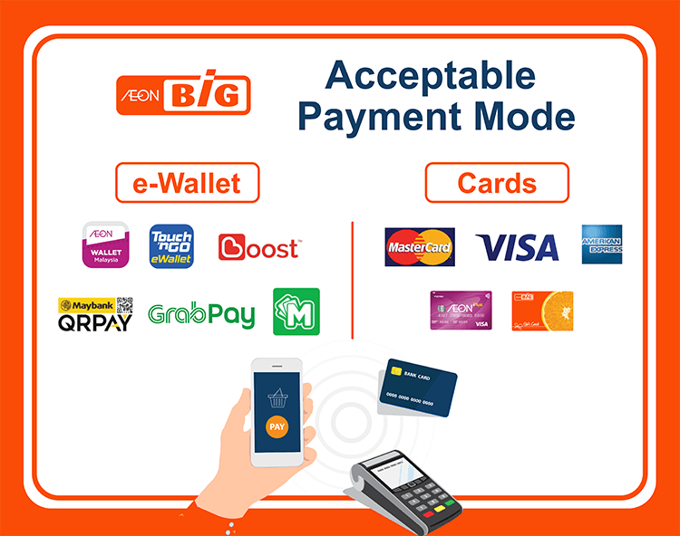 AEON BiG acceptable payment method