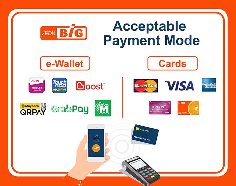 AEON BiG acceptable payment method