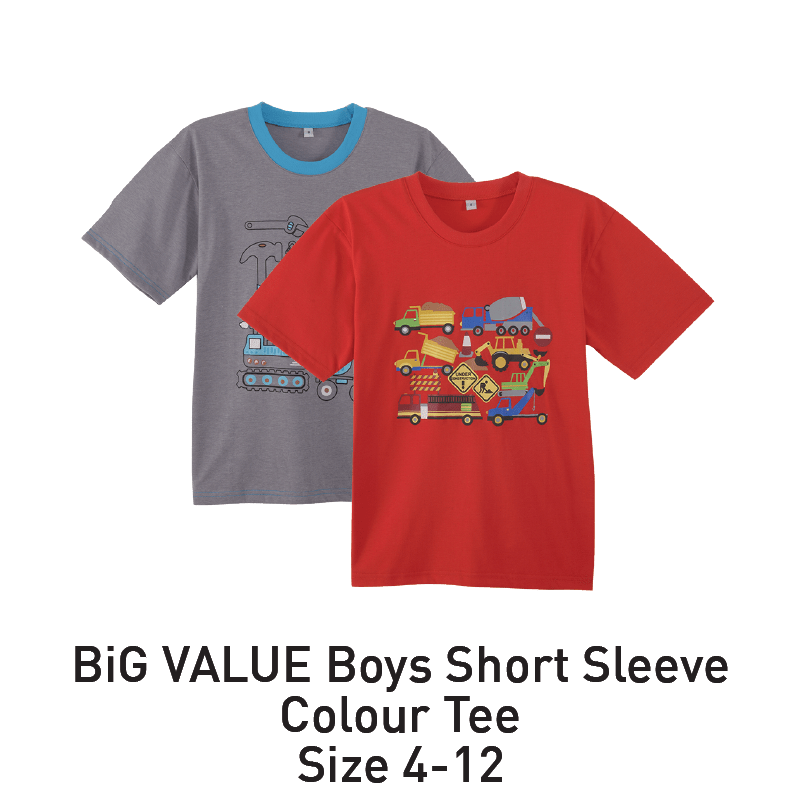 big value boys short sleeve colour tee aeon big