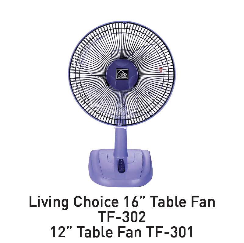 living choice table fan aeon big