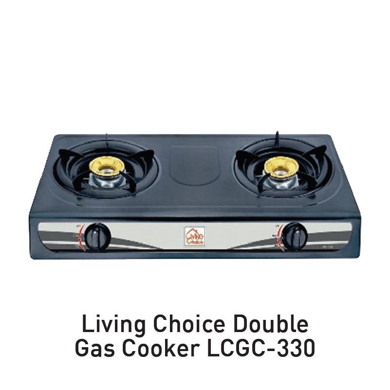 living choice double gas cooker aeon big